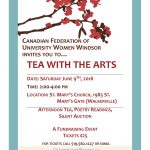 AFTERNOON TEA, POETRY READINGS, SILENT AUCTION, A FUNDRAISING EVENT FOR TICKETS CALL 519.562.1227 OR EMAIL CFUWWINDSOR@YAHOO.CA