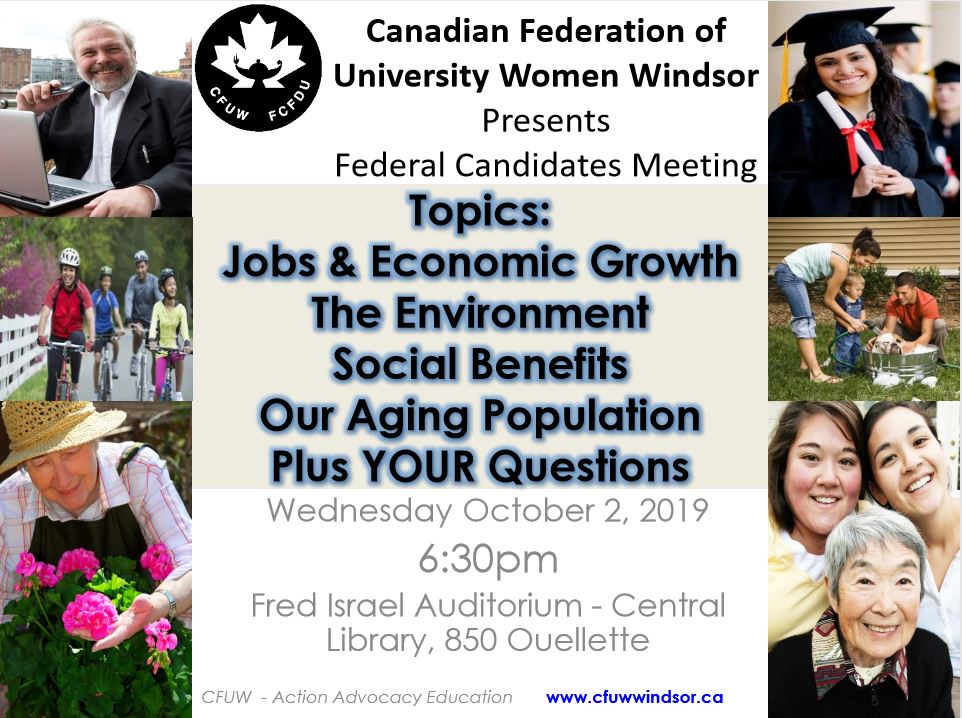 federal candidates meeting poster